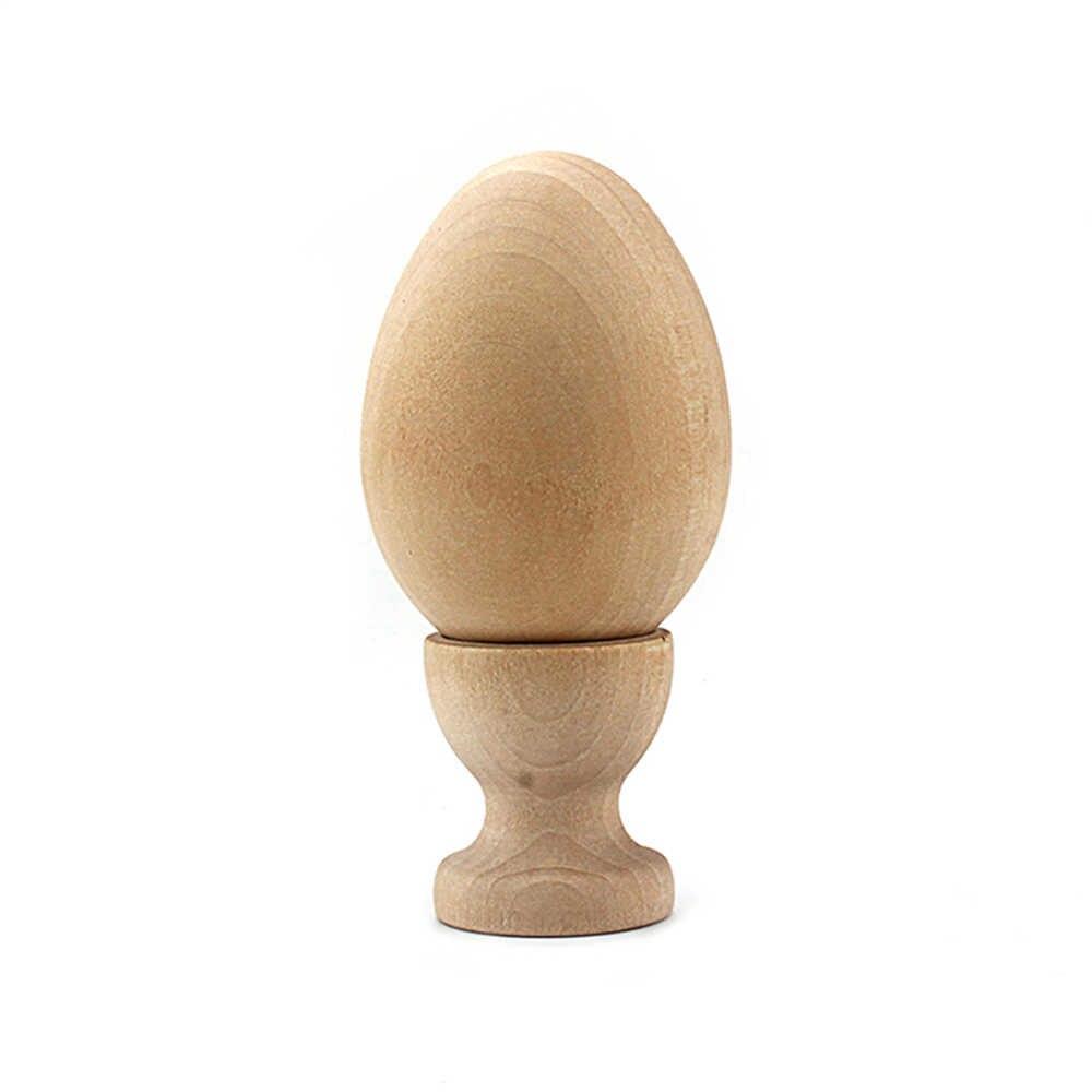 ไม้อีสเตอร์ไข่ยืนถาดผู้ถือจำลองไม้ไข่ DIY อีสเตอร์ไข่เล่นของขวัญของเล่นสร้างสรรค์สำหรับเด็กของขวัญอีสเตอร์