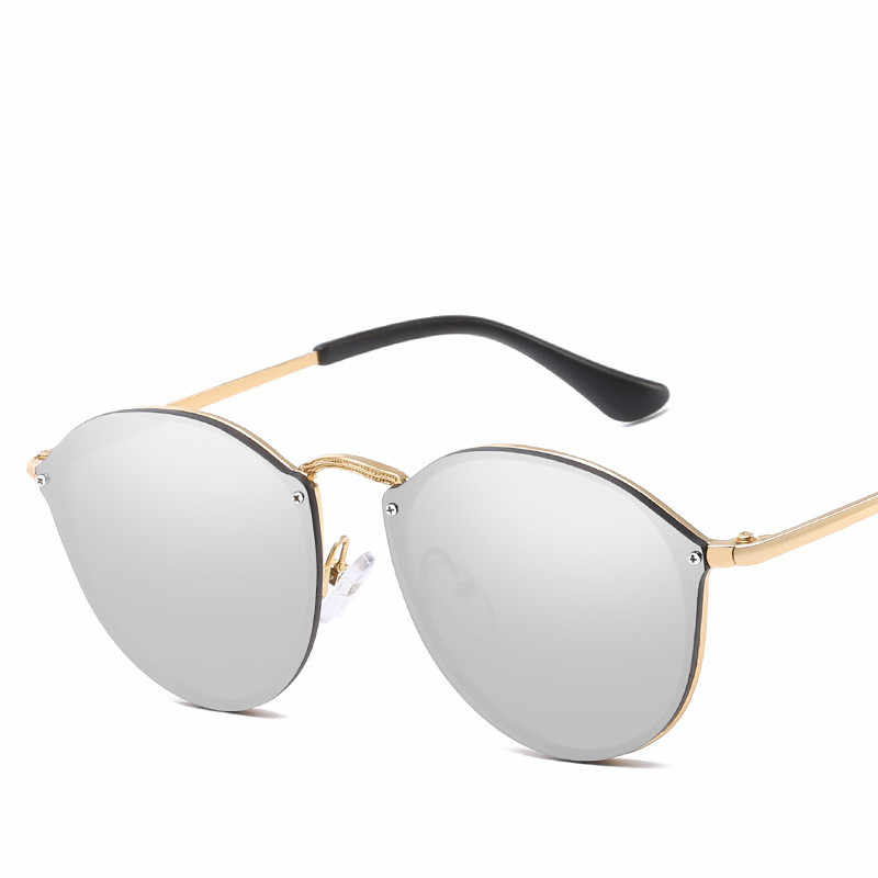 dbf140423 ... 2019 Luxury brand Round women's sunglasses Fashion Hue Vintage Retro Cat  Eye Sunglass Lady Female Sun ...