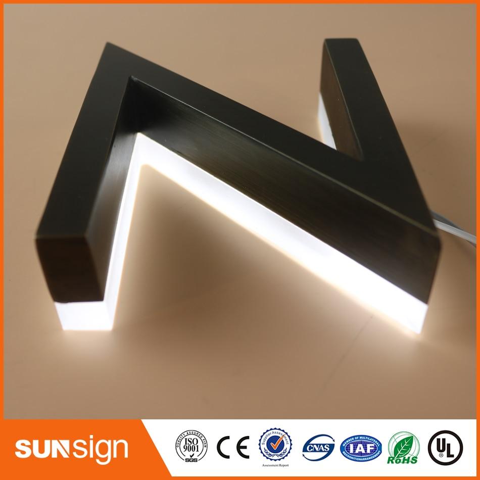 China Manufacturer OEM Custom Letras Luminosas Backlit Channel Letter Signs