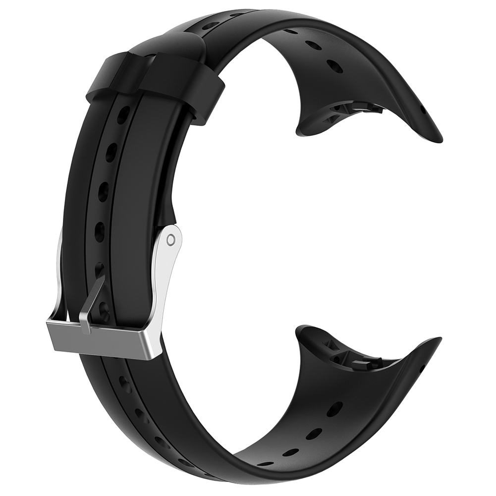 Replacement Silicone Watch Strap Band For Garmin Swim Swim Sports Watch With Tools Smart Watch Belt Wristband Black