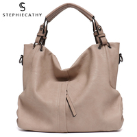 SC Big Casual Soft Tote Shoulder Bags for Women Large Vegan Leather Zipper Female High Quality Luxury Design Purses&Handbag