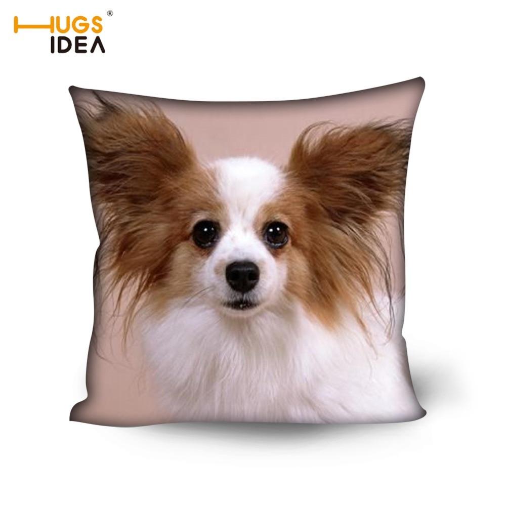 US $7.49 25% OFF|HUGSIDEA Kawaii 3D Papillon Hund Muster Kissen Abdeckungen  für Wohnzimmer Schlafzimmer Stuhl Sitz 45*45 cm Platz Kissen fall Home ...