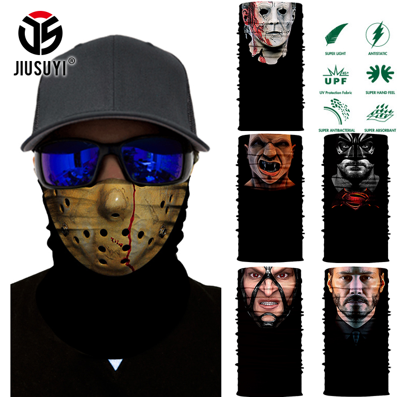 3D Seamless Multifunction Magic Skull Ghost Face Shield Mask Headband Bandana Headwear Ring Scarf Headwear  Mask For Men Women