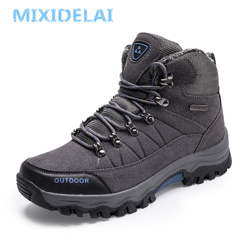 MIXIDELAI New Super Warm Men Winter Boots Men High Quality Snow Boots For Men Waterproof Warm Shoes With Fur Men's Ankle Boots mvvt super warm winter men boots snow boots with fur keep warm platform men winter snow shoes waterproof ankle boots