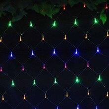 1.5mx1.5m 96LED 110V 220V super bright net mesh string light xmas christmas lights new year garden wedding holiday lighting