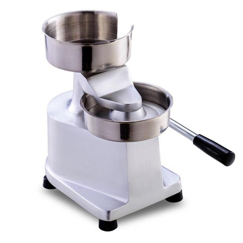 Руководство гамбургер машина коммерческих Мясорубка формовочная машина форма для гамбургера чайник пирожки кухня прибор HF 130