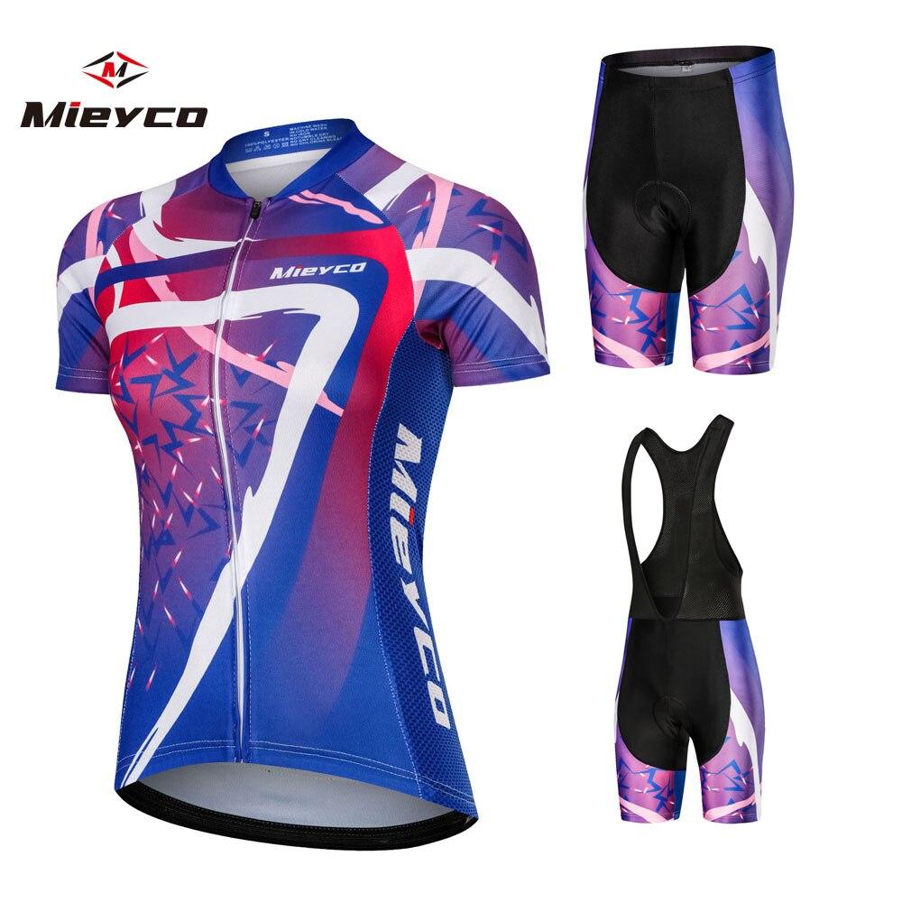 JPOJPO 2019 Women Cycling Jersey Bicycle Wear Clothing Set Team Bike Shirt Tops