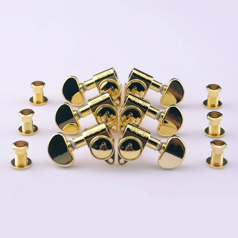 1Set 3R-3L Genuine Grover Guitar Machine Heads Tuners 1:18 Gold ( without original packaging ) 1set 3l 3r classical guitar string tuning pegs tuners machine heads open gear