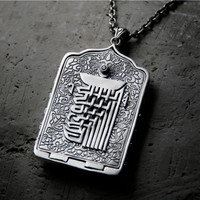 S925 Sterling Silver Thai Silver Retro Pendant Thang ga Gawu Box Bottle Pendant For Women Men Buddha Jewelry