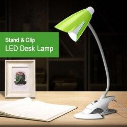 40 sztuk LED stojak klip lampy biurko nowoczesne Push przycisk przełącznika czytanie lampa biurowa elastyczny wąż Led lampa biurkowa u nas państwo lampy Schemerlamp