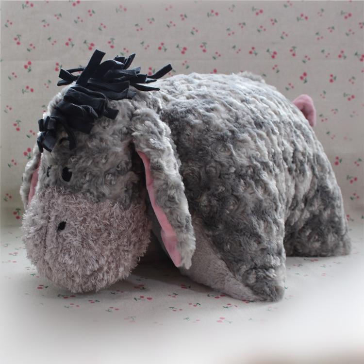 Free shipping 55cm 21.6'' Eeyore Donkey Plush Pillow Soft Toys Eeyore Cushion For birthday gift 1pcs 35cm original gray eeyore donkey stuff animal soft plush toy doll birthday children
