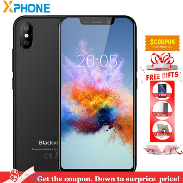 Blackview A30 Phone 2GB 16GB Android 8.1 Cell Phone 5.5 Inch 18:9 1132*540 2500 MAh Battery 8MP GPS Dual Sim 3G Smartphone