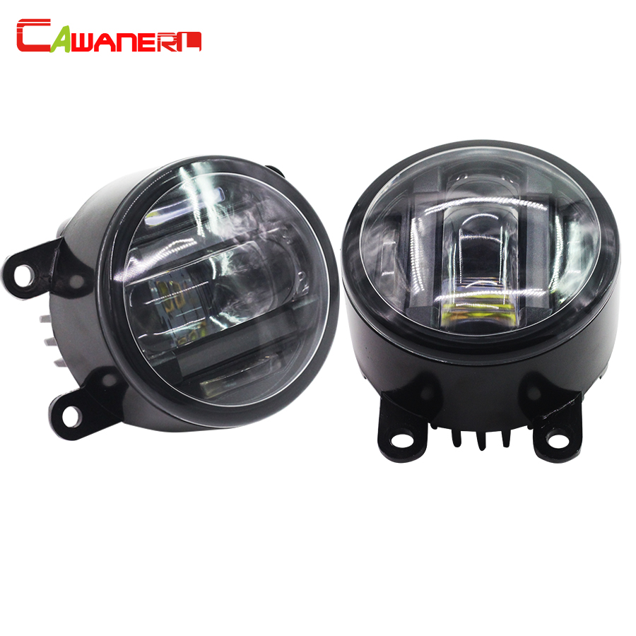 Cawanerl 1 Pair Car LED Fog Light Daytime Running Lamp DRL For Renault Megane Scenic Duster Master Grand Scenic Sandero Stepway new arrival a pair 10w pure white 5630 3 smd led eagle eye lamp car back up daytime running fog light bulb 120lumen 18mm dc12v