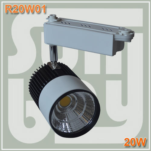 Free shiping LED track light 20W COB high lumens high quality commercial light rail lamp