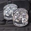 Защита Защитить Нас Святой Михаил Архангел Святой Михаил Патч Знак Наклейки
