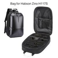 Waterproof Hard Shell PC Backpack Box Case Carrying Bag and 2 Pairs Propellers for Hubsan Zino H117S RC Quadcopter Drone