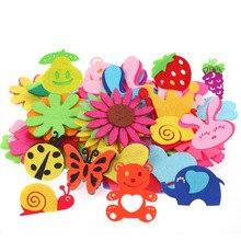 Креативный нетканый пластырь детская ручная головоломка материалы лепесток животный узор Детские патчи товары для шитья и рукоделия DIY стикер