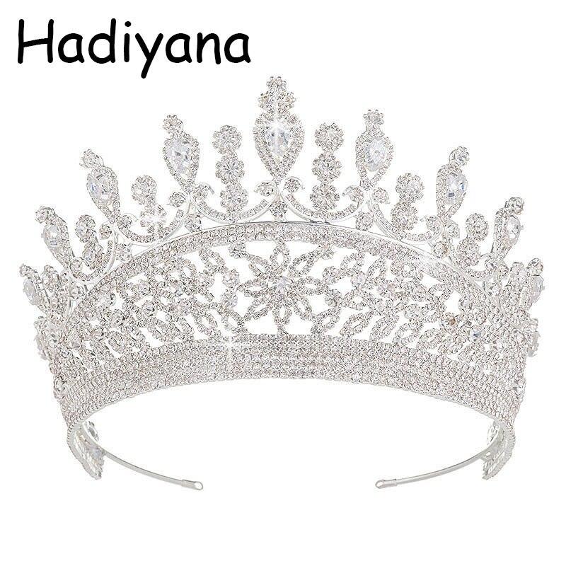 Hadiyana 2018 милые девушки капли Hairband CZ корона принцессы ободок тиара на день рождения короны для женщин аксессуары для волос HG6007