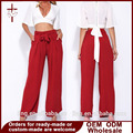 Women Wide Leg Loose Pants Women High Waisted Trousers Ladies Red Drawstring Trousers Autumn Clothes