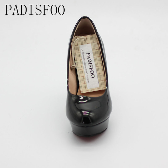 POADISFOO 2017 New Women's Shoes Sexy White Pumps Platforms Pumps Four Seasons Solid Shoes Thin Heel shoes.DFGD-05B2