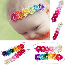 Hot Newest Baby Kids Girl Toddler Colorful Six Flowers Hair Band Headband Photo Props  7EIS
