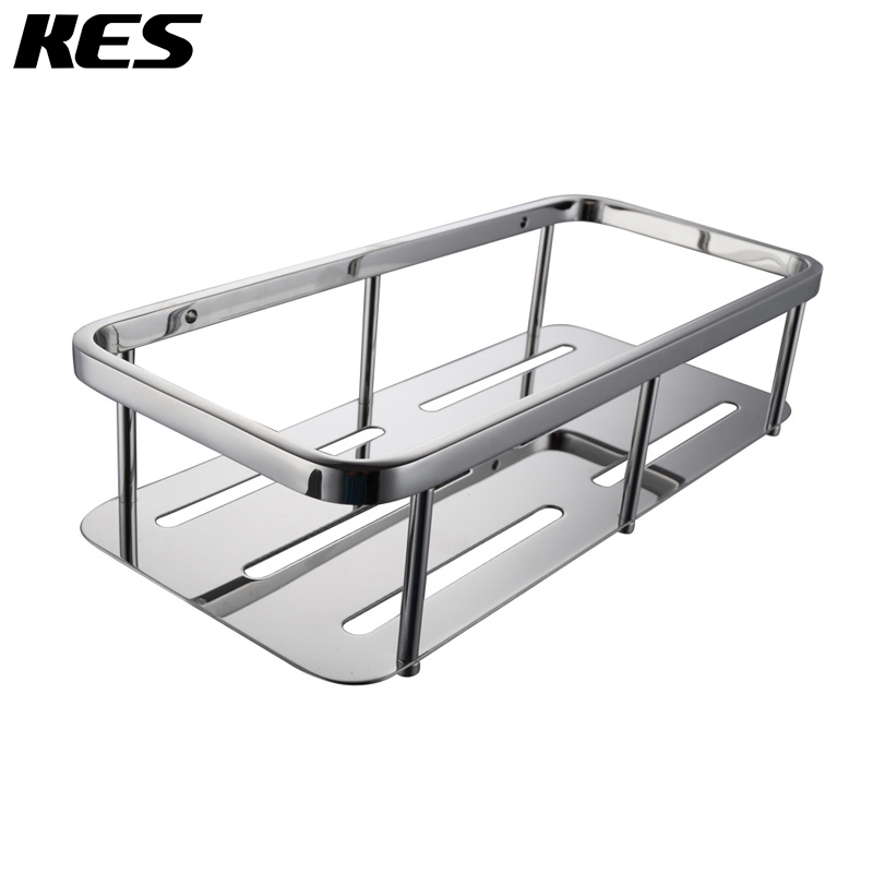 Kes A2221a Bathroom Corner Rectanglar Tub And Shower Caddy Basket Polished Stainless Steel In
