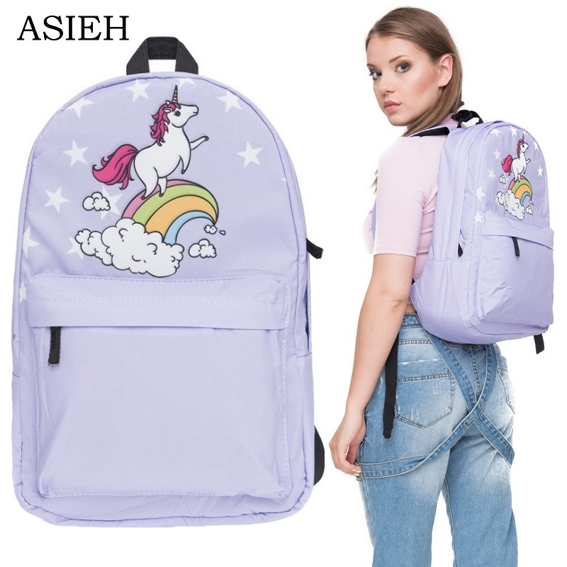 Bag, Laptop, Travel, Back, Backpack, Unicorn