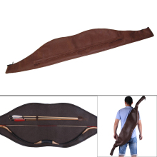 Archery Hunting Bow Bag Waterproof Longbow Holder 58 Recurve Case PU Leather