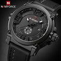 NAVIFORCE Top Luxus Marke Männer Sport Military Quarzuhr Mann Analog Datum Uhr Lederband Armbanduhr Relogio Masculino-in Quarz-Uhren aus Uhren bei