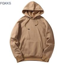 FGKKS 2018 New Spring Autumn Fashion Hoodies Male Large Size Warm Fleece Coat Men Brand Hoodies Sweatshirts