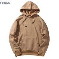 FGKKS 2018 New Spring Autumn Fashion Hoodies Male Large Size Warm Fleece Coat Men Brand Hoodies