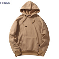 FGKKS 2018 New Spring Autumn Fashion Hoodies Male Large Size Warm Fleece Coat Men Brand Hoodies