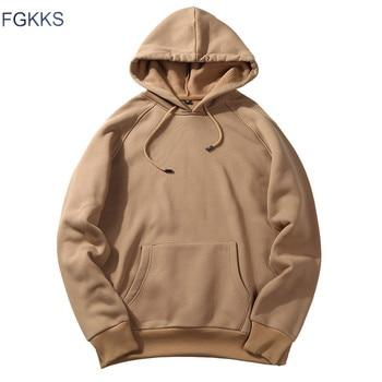 FGKKS New Autumn Fashion Hoodies Male Warm Fleece Coat Hooded Men Brand Hoodies Sweatshirts EU Size