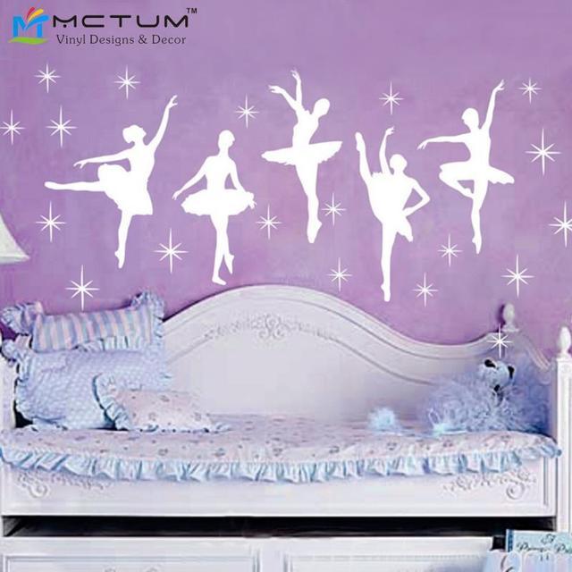 New Ballet Dance Ballerinas Stars Custom Vinyl Wall Decals - Custom vinyl wall decals for nursery