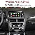 OEM автомобиль <font><b>IOS</b></font> мобильный телефон экран зеркалирование беспроводной Carplay для Audi A4 A5 Q5 симфония концертное радио