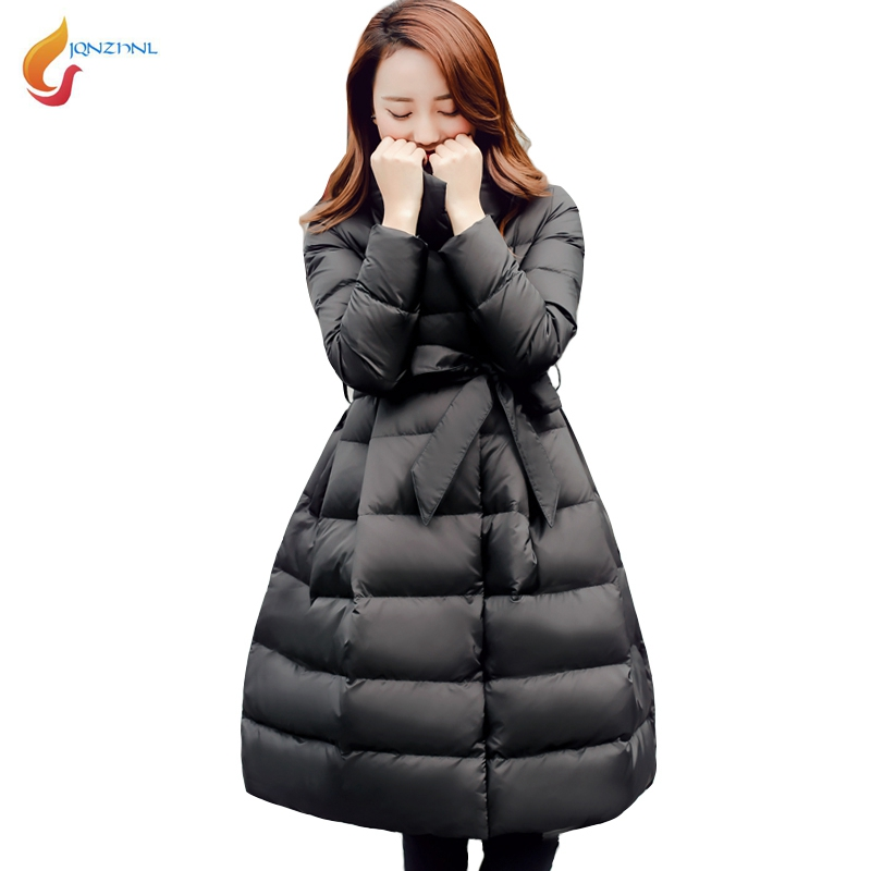 JQNZHNL 2017 New Winter Cotton Coats Parkas Women Medium Long Slim Thicken Down Cotton Coat Fashion Casual Parkas Outerwear L748 winter jackets coats new down cotton jacket women parkas thicken hooded outerwear slim large size medium long female coat k616