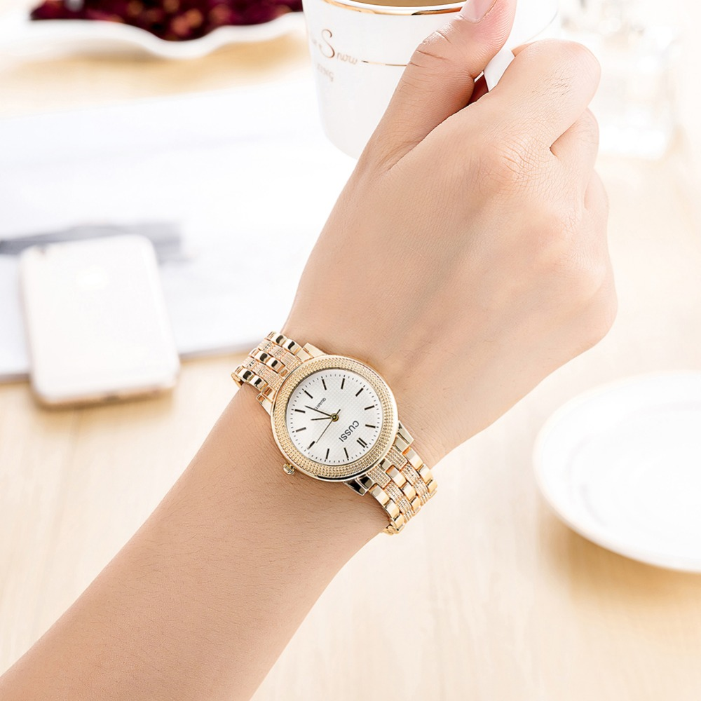 CUSSI Dames Horloge Luxe Merk Fashion Vintage Quartz Dames Goud - Dameshorloges - Foto 2