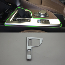 цена на Car Accessories Interior Decoration ABS Matte LHD Gear Shift Panel Cover Trim For BMW X1 2016 Car Styling