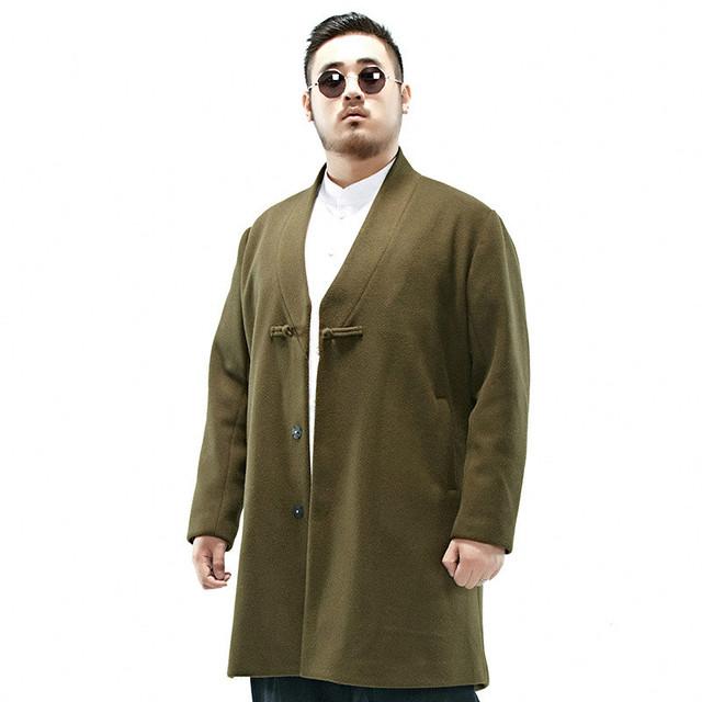 2016 de invierno nuevos hombres espesar chaqueta de lana de gran tamaño china estilo moda casual capa larga outwear hombres L405