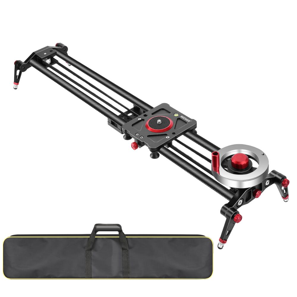 Neewer Camera Slider Video Track Dolly Rail Stabilizer: 31-inch/80cm, Flywheel Counterweight with Light Carbon Fiber RailS image