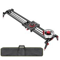 Neewer Camera Slider Video Track Dolly Rail Stabilizer: 31 inch/80cm, Flywheel Counterweight with Light Carbon Fiber RailS