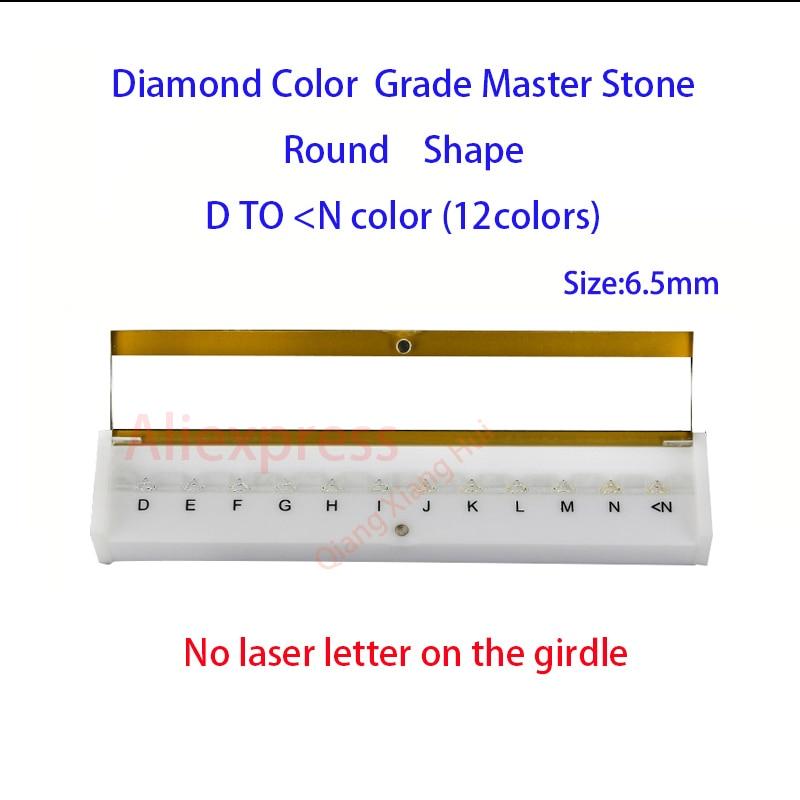 Las especificaciones de peso del diamante maestro y D a M Color blanco forma redonda con láser de piedra de Zirconia cúbica de herramientas - 3