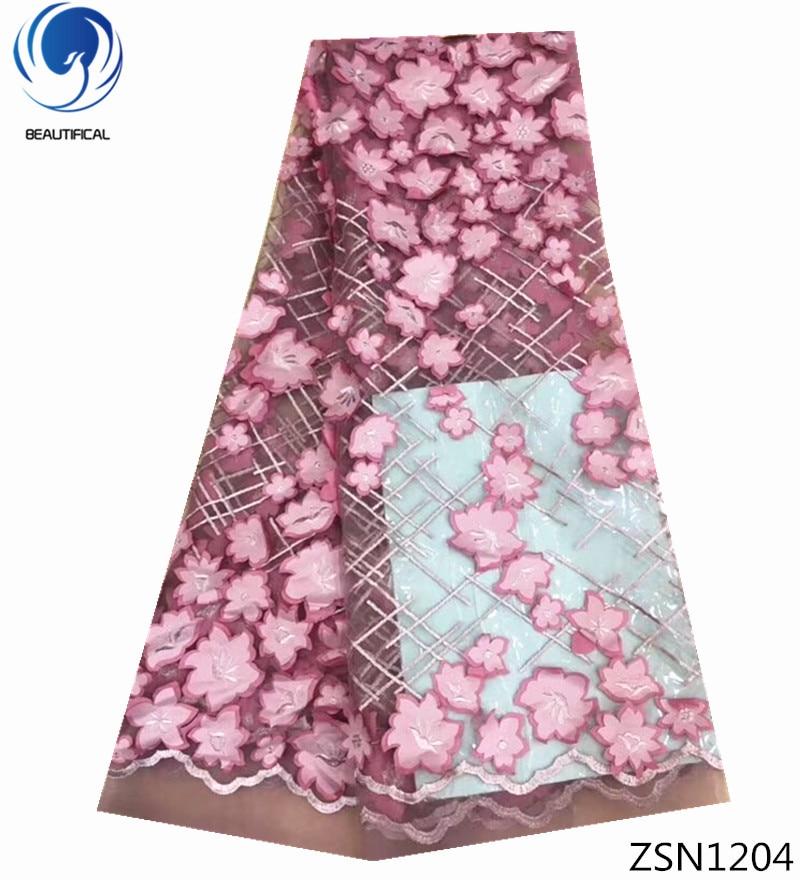 BEAUTIFICAL stock lace fabric wholesale eyelet lace fabric indian lace fabric online new nigerian quality 5 yards/piece ZSN12