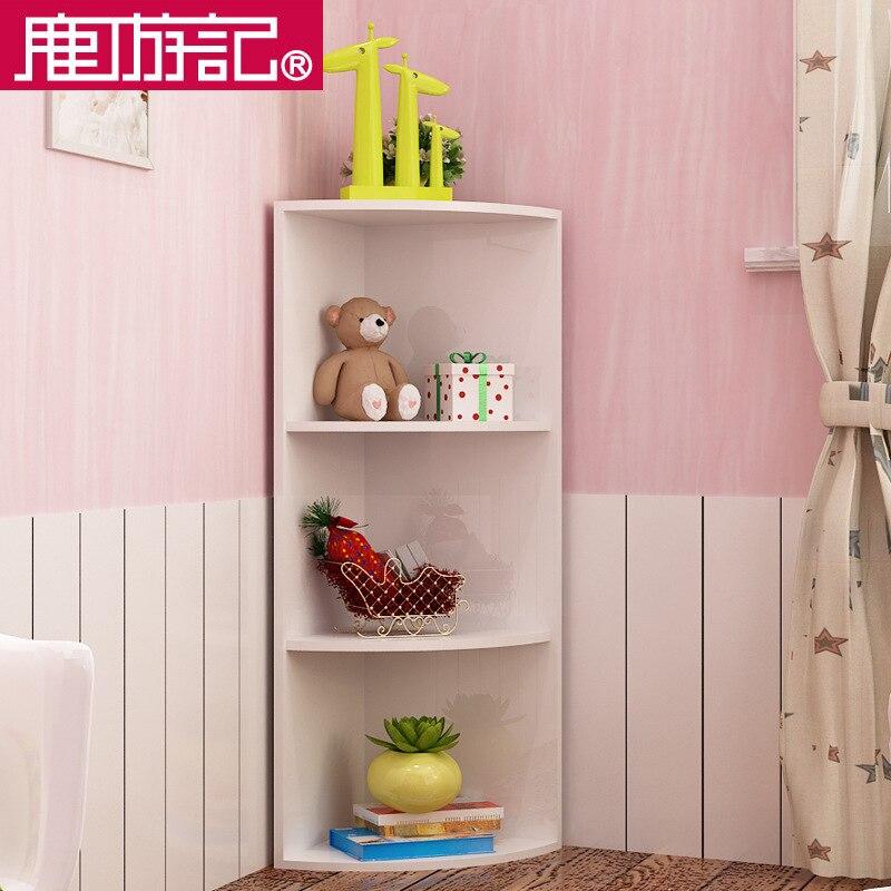 Deer travel sector triangular corner cabinet corner cabinet bookcase ...