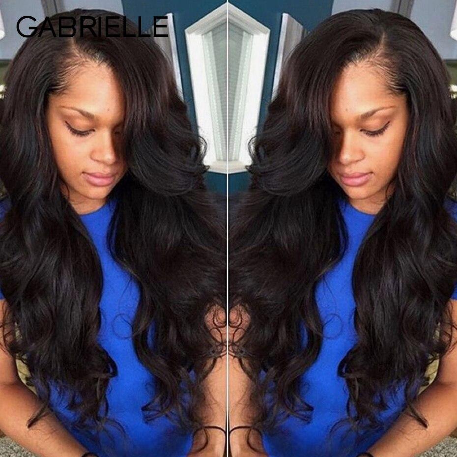 Gabrielle Brazilian Body Wave Human Hair Bundles with Closure Cheap 3 Bundles With Closure Non Remy Hair Extentions 4pcs