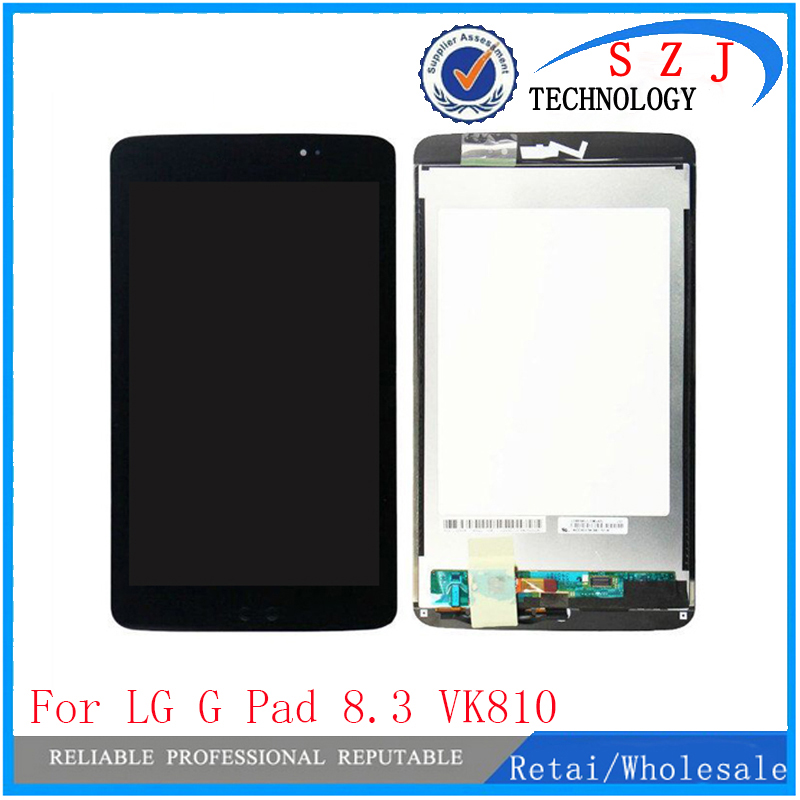 NEW 8.3 inch For LG G Pad 8.3 VK810 LCD Display with Touch Screen Digitizer Sensor Panel Full Assembly Black Free shipping for zopo 9520 zp998 lcd display touch screen digitizer assembly black by free shipping 100% warranty