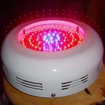 90W UFO LED Grow light;red(630nm):blue=8:1;also support DIY ratio;with 3,500lm Luminous Flux;CE ROHS approved