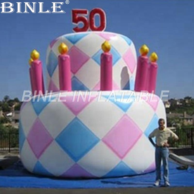 Conception personnalisée n logo incroyable gâteau d'anniversaire gonflable géant pour la décoration de l'événement