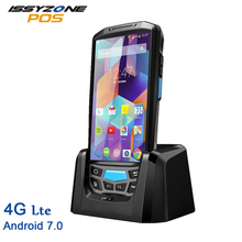 PDA Android 7.0 Rugged Handheld Data Collector Warehouse Logistics 1D 2D Barcode Scanner 4G POS Terminal With 4800mAh Battery цена 2017