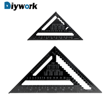 DIYWORK 7inch 12inch Triangle Ruler Angle Ruler Gauge Speed Square Roofing Aluminum Alloy Metric System Measuring Ruler